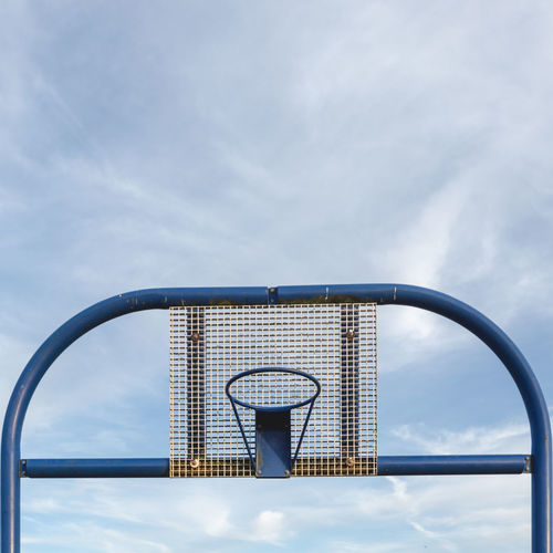 View of basketball hoop against sky