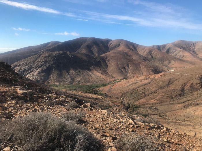 Fuerteventura Sky Landscape Scenics - Nature Mountain Tranquil Scene Tranquility Environment