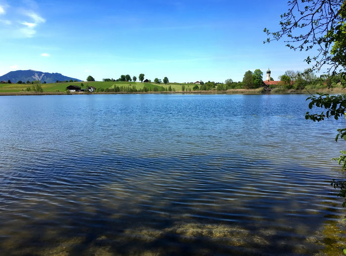 Froschhauser See Bavaria Bayern Beauty In Nature Blue Froschhausen Idyllic Lake Lakeshore No People Non Urban Scene Non-urban Scene Rippled Tranquil Scene Tranquility Travel Destinations Voralpenland Water
