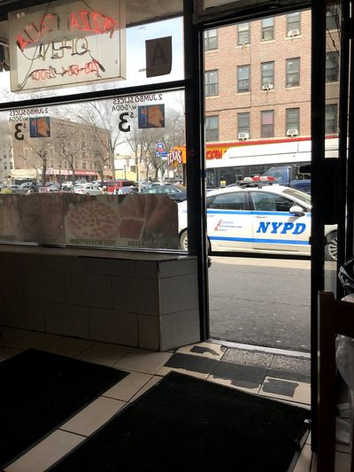 Bronx, New York Pizza Shop NYPD Street Art