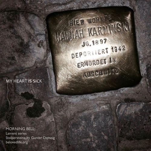 no3 in #Lament series Stillness Prayer Contemplation Holocaust Remembrance Holocaust Berlin Stolpersteine Gunter Demnig