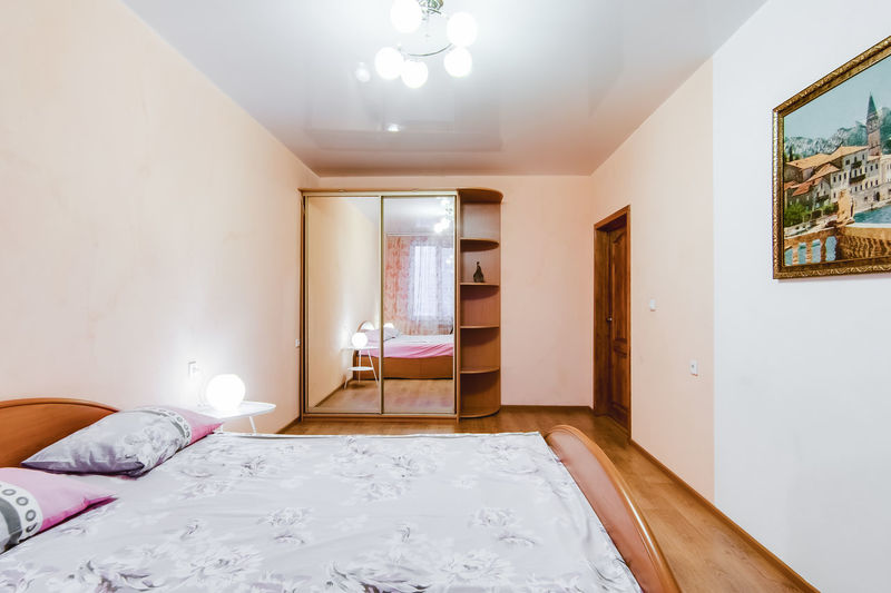 Furniture Indoors  Bed Bedroom Domestic Room Home Interior Architecture No People Wall - Building Feature Lighting Equipment Pillow Building Built Structure Illuminated Entrance Door Absence Flooring Home Showcase Interior Empty Ceiling Luxury Electric Lamp