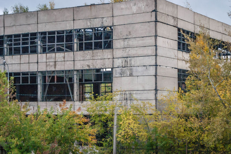 Abandoned Plant Industrial Decay Building Empty Novokuznetsk Kuzbass Siberia Russia