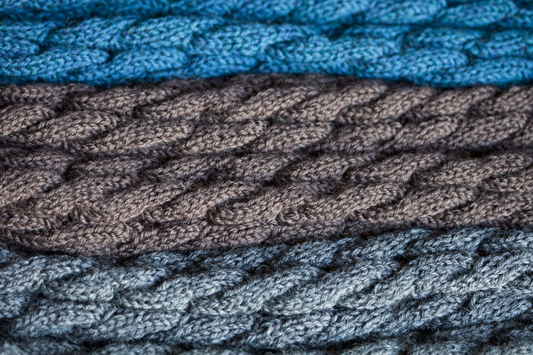 Art And Craft Backgrounds Blue Braided Close-up Clothing Complexity Connection Craft Extreme Close-up Full Frame Industry Man Made Object No People Pattern Softness Strength Textile Textured  Warm Clothing Wool