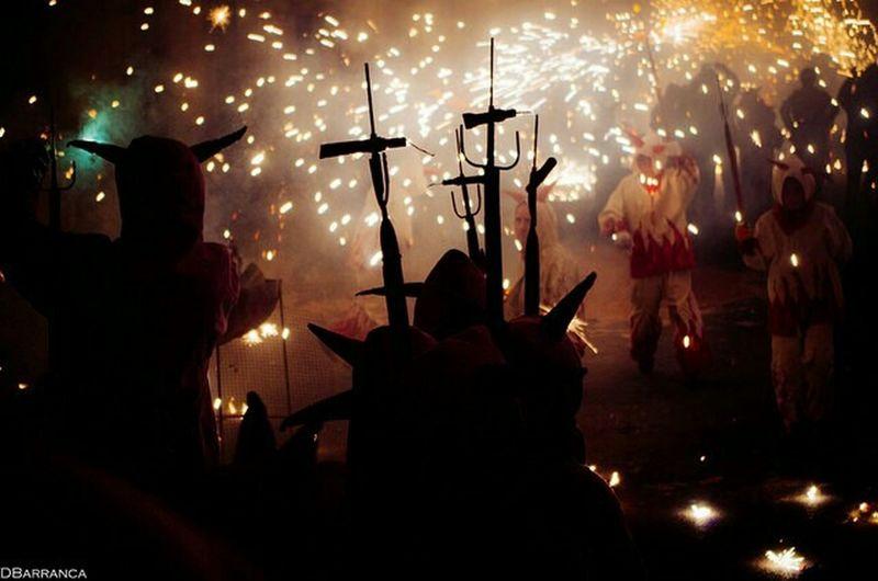 Sant Antoni I Es Dimoni Algaida Sant Honorat Correfoc Mallorca