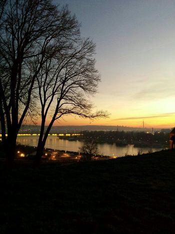 Belgrade Sava River Sunset