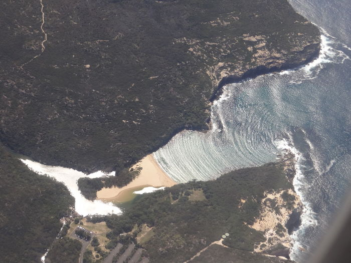 Royal National NSW, Australia aerial view Australia National Park Aerial View Beach Beauty In Nature Breaking Day Environment Flowing High Angle View Land Motion Nature No People Nsw Outdoors Power Power In Nature Royal National Park Scenics - Nature Sea Tranquility Water