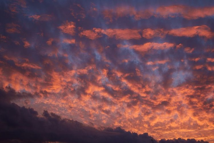Atmosphere Atmospheric Mood Beauty In Nature Cloud Cloud - Sky Cloudscape Cloudy Dramatic Sky High Section Idyllic Low Angle View Majestic Nature No People Non-urban Scene Orange Color Outdoors Red Romantic Sky Scenics Sky Sunset Tranquil Scene Tranquility Vibrant Color