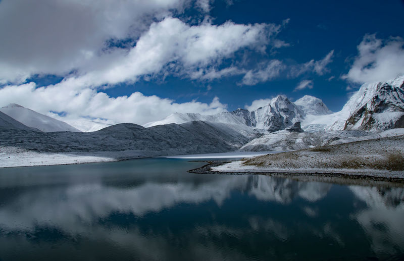 The Impressive Gurudongmar Lake Abode Of God Abode Of The NagaSadhus DesktopBackGround Gurudongmar HEAVENONEARTH Himalayas Peace And Quiet Beauty In Nature Cloud - Sky Cold Temperature Elements Of Nature Lake Mountain Mountain Range Nature No People Paradise Scenics - Nature Sky Snowcapped Mountain Tranquil Scene Tranquility Wallpaper Water Winter The Great Outdoors - 2018 EyeEm Awards The Traveler - 2018 EyeEm Awards