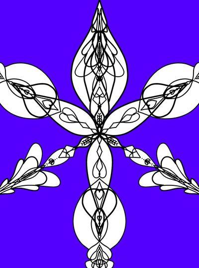Close-up of purple flower against blue sky