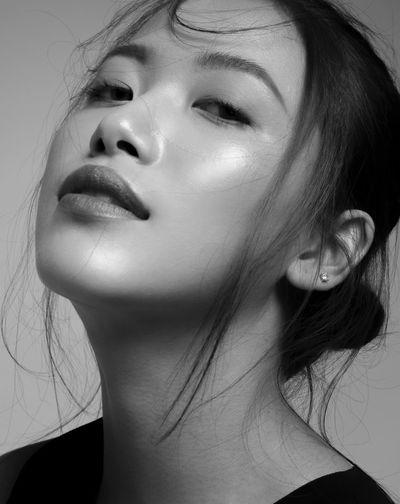 Fashion Blackandwhite Portrait Beauty