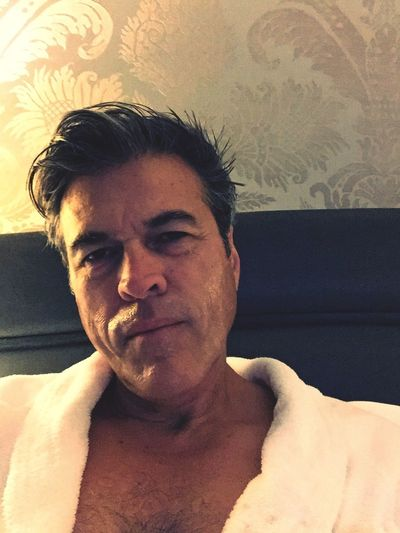 Too many folks with facial hair so decided to become Clean Shaved once again. Self Portrait Relaxing in hotel room in Paris Michael J Armijo