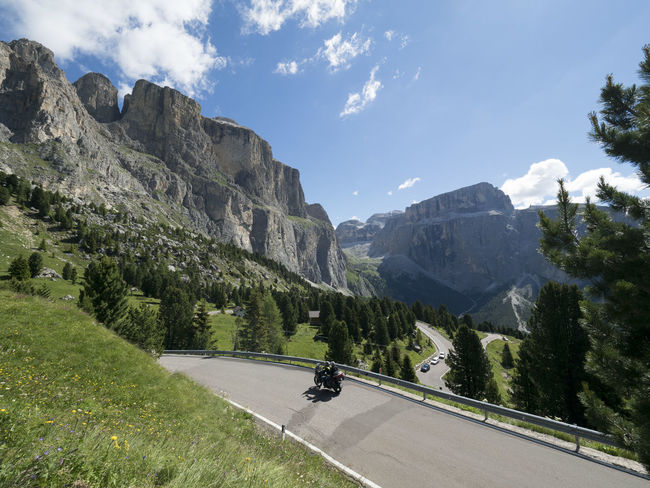 Tree Landscape Mountain Mountain Range Nature Outdoors Sky No People Beauty In Nature Day Golf Course Motorcycles Sellaronda Sella_gruppe