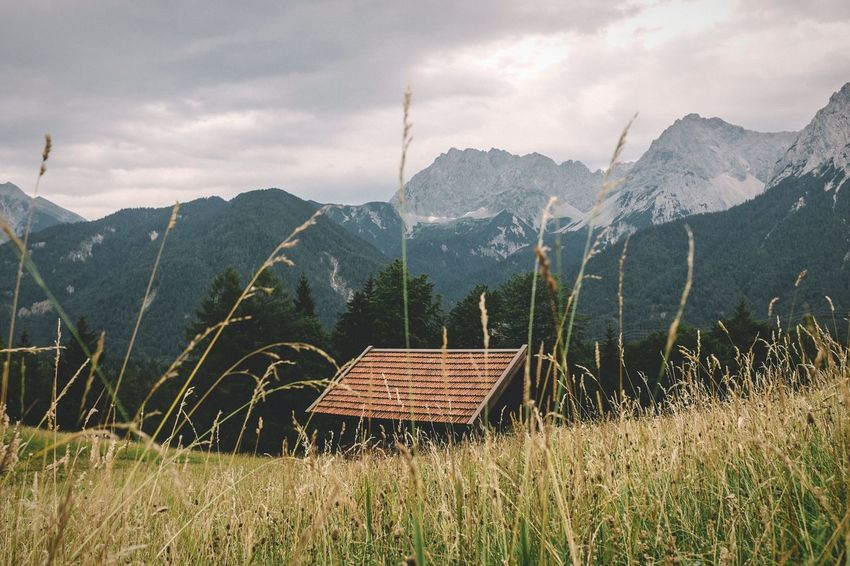 Empty house on the hill House EyeEm Nature Lover EyeEm Best Shots - Landscape Mountains And Sky The Alps Bavarian Alps Reeds The House On The Hill EyeEm Best Edits Mountains