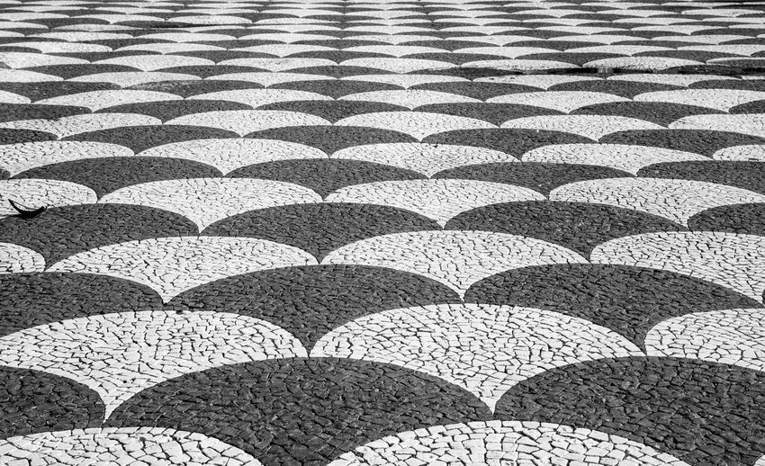 Close-up Day No People Outdoors Pattern Portugese Tiling Repetition Stone Pavement
