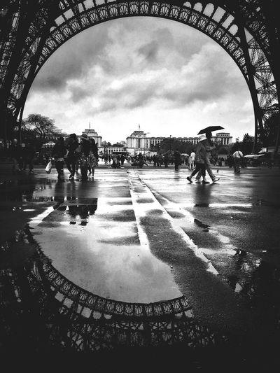 Rainy Day in Paris Paris Rainy Days Rain In Paris Weather Rainy Day Rainy Days☔ Wet Wet Reflection Puddle Reflections France Paris, France  Eiffel Tower Eiffeltower Landmark Tower The Street Photographer - 2016 EyeEm Awards The Architect - 2018 EyeEm Awards