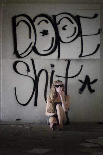 Writing On The Walls Graffiti Self Portrait Abandoned