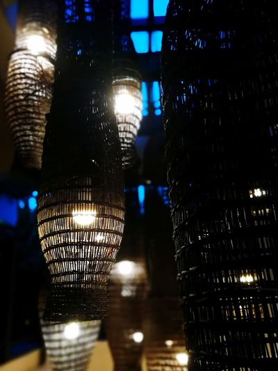 Lamps lighting. Night Lighting Equipment Illuminated No People Low Angle View Architecture Hanging Nightlife Indoors  Building Reflection Built Structure Decoration Bar - Drink Establishment Close-up Light City Light - Natural Phenomenon Lantern Electric Lamp Connection Wood Creativity Tree Trunk Growth