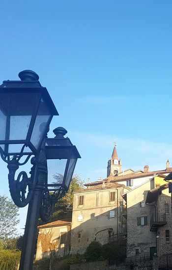 No People Blue Outdoors Day Architecture Sky City Clock Close-up Clock Face Village Old Buildings Alta Langa Langhe Langhe Italy