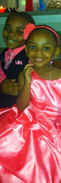 My handsome son and my beautiful niece 3yrolds