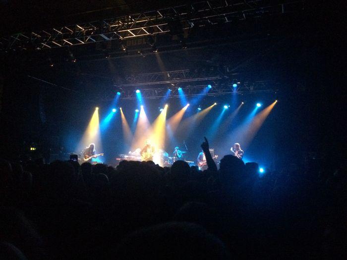 Father John Misty Gig Spotlight Orange And Blue Concert