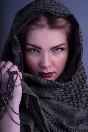 Taisa, mysterious lady :-) Portrait Looking At Camera Beautiful Woman One Person Young Adult Only Women Headshot One Woman Only One Young Woman Only Adults Only Beauty Front View Beautiful People Studio Shot Covering Warm Clothing Adult People Young Women Scarf