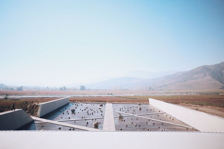 The Architect - 2017 EyeEm Awards Mountain No People Clear Sky Copy Space Day Nature Outdoors Scenics Mountain Range Tranquility Built Structure Beauty In Nature Industry Water Sky Architecture Salt - Mineral