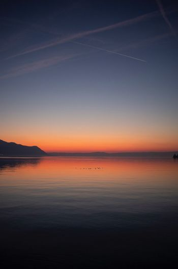 Sky Beauty In Nature Water Scenics - Nature Sunset Tranquility Tranquil Scene Horizon Over Water No People Nature Non-urban Scene Reflection Orange Color Idyllic Outdoors Waterfront Horizon Land Salt Flat Sea 17.62° 17.62° 17.62°