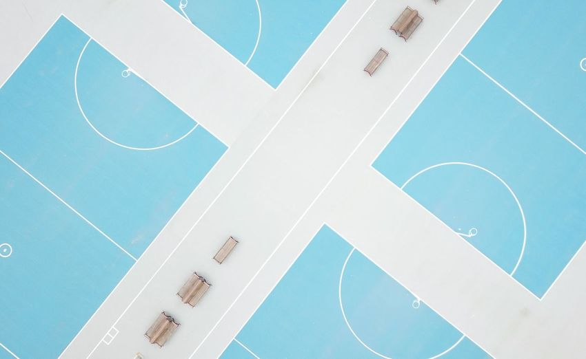 Parallel High Angle View Symmetry Competition Competitive Sport Court Sport Copy Space Exercise Lines Lines And Shapes Shape Basketball Netball Australia EyeEm Selects No People Blue High Angle View Close-up Number Full Frame Architecture Shape Indoors  Pool White Color Creativity Pattern Day