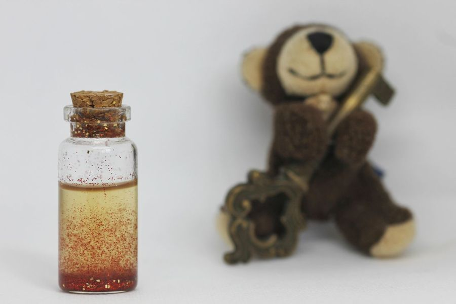 Teddy Potion Toy Toys Teddy Bear Teddybear Teddy Bottle Potion Magic Key Solution Illustration Fierce Strategy Game Happy Happyness Happy Time Happyday Fine Positive Positivity Future EyeEm Selects Indoors  No People Healthcare And Medicine White Background Studio Shot Close-up Day
