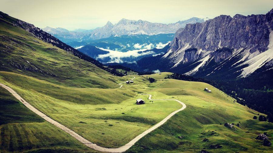 Alps Alta Via 2 Dolomiten Dolomites Dolomites, Italy Hiking Höhenweg Italian Alps Italy Morning Mountain Moutain Trail