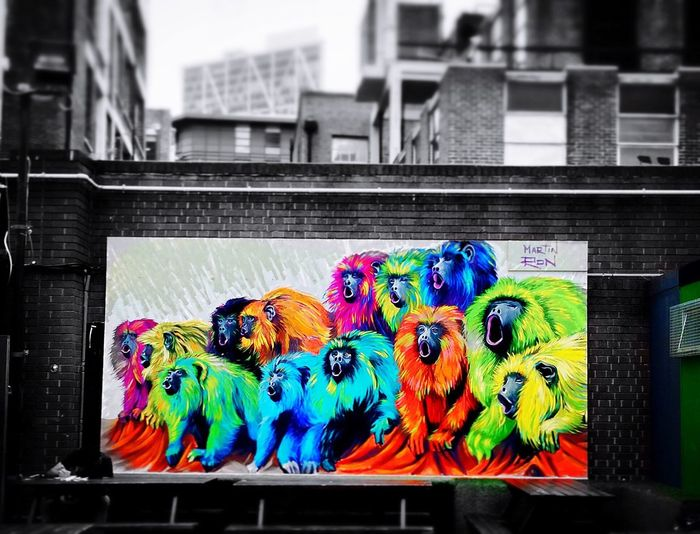 Blackandwhite London Street Art Expression Mypointofview Martinron Colors Ape