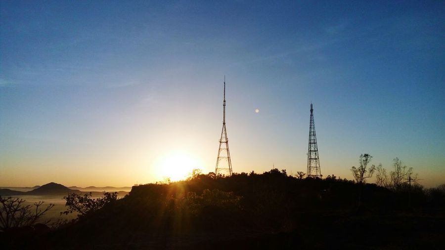 Urban Landscape Morning Sunrise Sun Tvtower Tower Fog Radiotower Mountains Landscapes The Great Outdoors With Adobe Fresh On Eyeem  The Great Outdoors - 2016 EyeEm Awards