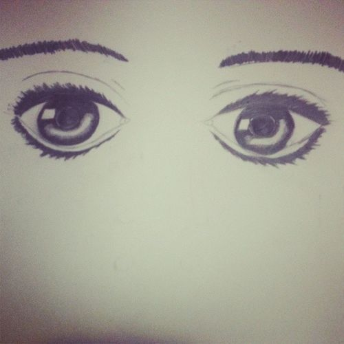Probably the most realistic eyes I've ever drawn... how did I get into art school again? Emilycarr Eyes Doodles Theystareintoyoursoul freakingmeout 3am icantdrawnoses why whatthef