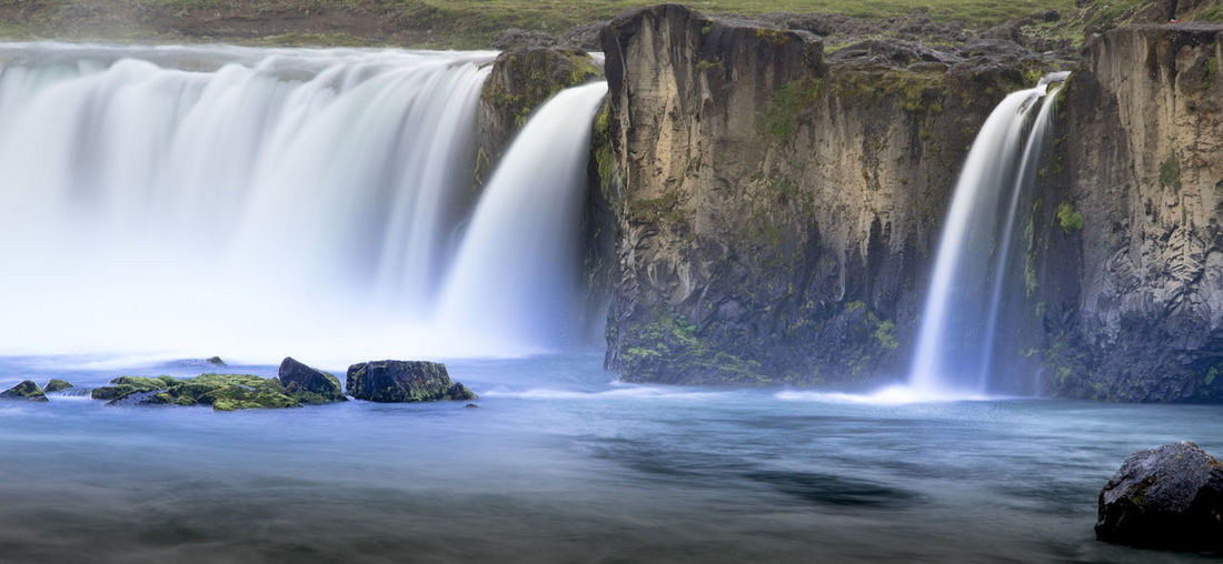 Beauty Day Environment Environmental Conservation Flowing Freshness Idyllic Landscape Long Exposure Motion Nature No People Outdoors Refreshment Reservoir Scenics Smooth Stream - Flowing Water Tourism Travel Tree Vacations Water Waterfall Iceland Memories