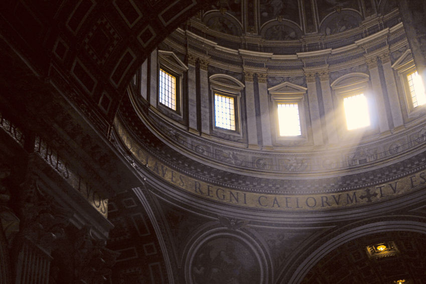 Cathedral Sunlight Architecture Built Structure Day History Indoors  Low Angle View No People Sunlight And Shadow Window Windows