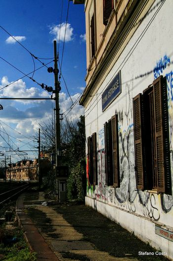 Railway BestpicofthedayTaking Photos Hello World Hi! Street Travel Colorful Photography Graffiti Writers Graffiti Graffiti Building Graffiti Roma Graffiti Vandals Railwaystation Railways_of_our_world Railways