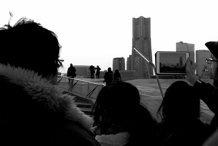 Bw_collection EyeEm Tokyo Meetup 7 Taking Photos Of People Taking Photos A Frame Within A Frame Enjoying The View