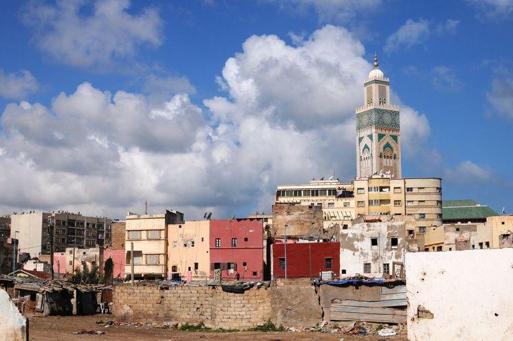 Casablanca Mosquee Hassan II Bidonville