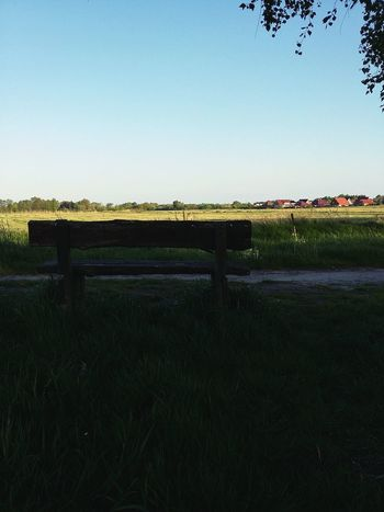 Bench in the Shade. · Varel Germany Friesland Benches Benches & Branches Rural Scene Rural Life Rest Peacefulness Blue Sky Spring