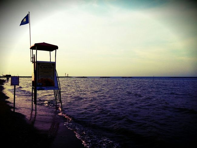 Lifeguard  Seascape Summer Sea Lifeguardstation Adriaticsea Adriatic Sea Mare Adriatico Sunset
