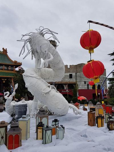 Phantasialand Phantasialand Snow Chinese Lantern Festival Chinese Lantern Paper Lantern Dragon