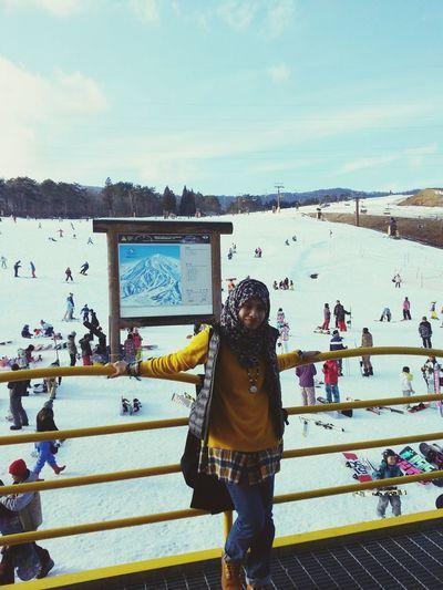 januari 2016 winter holiday in takasu snow park gifu ken japan Japanhijab Hijabcantik Lovehijab That's Me Japanlove Lovely Lovejapan Japanmuslim Muslimah Enjoying Life