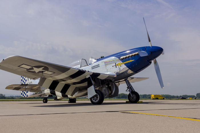 A P51D Mustang at Pardubice Airport Czech Republic Mustang P51D Pardubice World War 2 Air Show Air Vehicle Aircraft Airplane Airport Fighter Historic Airplanes Journey Outdoors Second World War Travel United States Air Force Vintage Wings