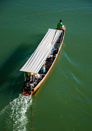 Asian  Drone  Travel Day Drone Photography Group Of People High Angle View Leisure Activity Lifestyles Men Mode Of Transportation Motion Nature Nautical Vessel Outdoors People Real People Sea Sunlight Thaland Transportation Travel Water Waterfront