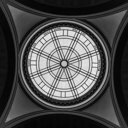 Accademia Architectural Design Architectural Feature Architecture Black And White Built Structure Ceiling Circle Cupola Dome Glass Indoors  Low Angle View No People S Skylight Stem