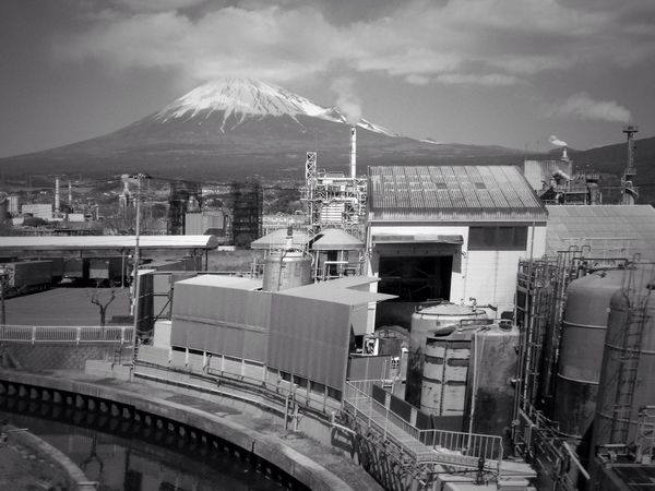 Landscape Mt.Fuji Blackandwhite Factory