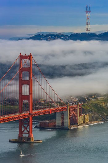California Dreamin Golden Gate Bridge San Francisco Architecture Bridge Bridge - Man Made Structure Building Exterior Built Structure City Cloud - Sky Connection Day Engineering No People Outdoors Red River Sky Suspension Bridge Transportation Travel Travel Destinations Water