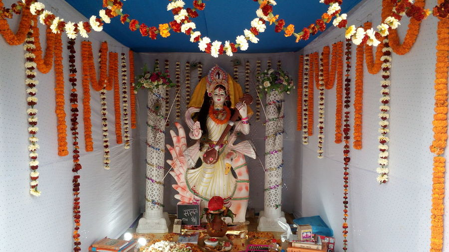 Maa Sarswati Basant Panchami Maa Sarswati Festival Maa Sarswati EyeEm Selects Spirituality Religion Statue Sculpture EyeEmNewHere