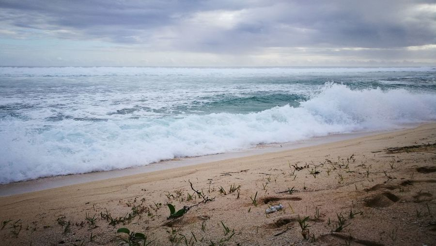 mauritius Sea Beach Wave Horizon Over Water Sand Beauty In Nature Cloud - Sky Sky Landscape Nature Scenics Outdoors Awe Motion Power In Nature Sun Travel Destinations Day No People Tranquility